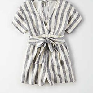 American Eagle stripped romper size XL